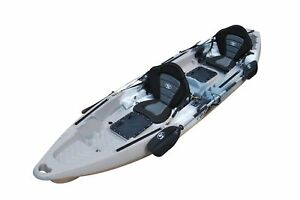 BKC UH-TK122-PS223 Coastal Cruiser 12.9-Foot Tandem 2-3 Person Fishing Kayak -wi