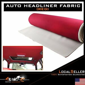 Auto Headliner Upholstery Fabric with Foam Backing 72