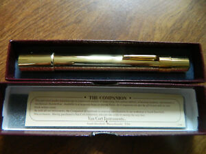 New Van Cort The Companion Pocket Pen Kaleidoscope Prism Scope Brass NIB