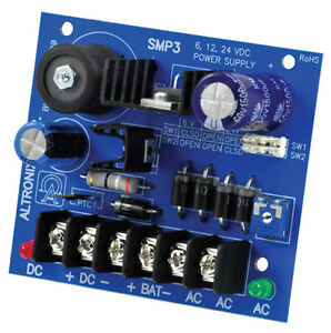Altronix SMP3 Power Supply Battery Charger Security Access12VDC 24VDC. 2.5 amp $33.00