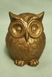 #x27;LUCKY#x27; PAINTED CUTE OWL FIGURINE STATUE GIFT