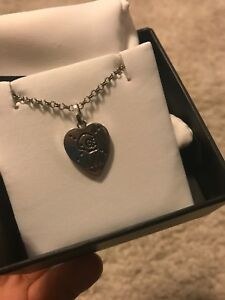 Original Gucci Ghost Sterling Silver Heart Pendant Necklace
