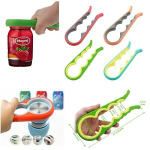 Multi-Function 4 in 1 Can Easy Opener Tool Bottle Jars Remover Kitchen Twist