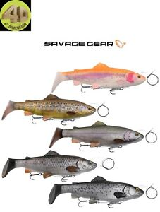 Savage Gear 4D Line Thru Trout Rattle Shad 27.5cm MS 5 Colours Pike Muskie Lure