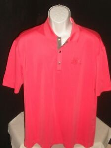 TIGER WOODS PLATINUM FIT DRY PINK 2010 US OPEN PEBBLE BEACH SS POLO SHIRT SZ  L