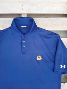 Clemson Tigers Under Armour Men's Blue Polo Small