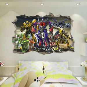 NEW Transformers Optimus Prime Bumblebee HUGE Wall Stickers Kids Home Decor $8.39