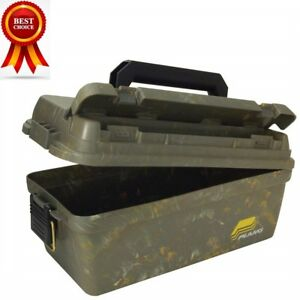 Plano Shallow Water Resistant Field Box Utility Gear Storage Case Ammo Can Crate
