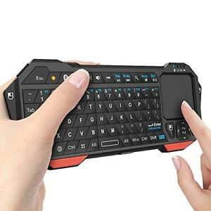 Wireless Bluetooth Mini Keyboard Controller Portable Keypad Built-In Touchpad