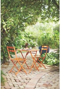 Patio Bistro Set Weather Rust Resistant Powder-Coated Steel Frame (3-Piece)