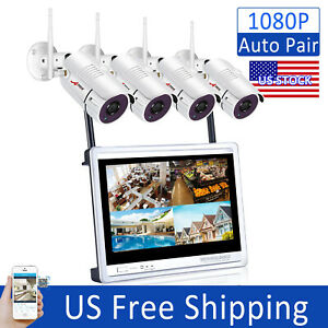ANRAN 1080p HD WiFi Security Camera System Wireless Home 8CH NVR 12