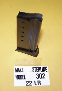 STERLING MODEL 302 IN 22 NEW MAGAZINE 6 ROUNDS