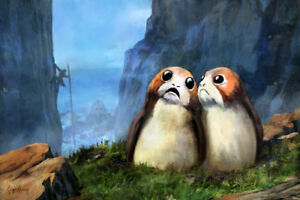 ACME ARCHIVES STAR WARS GICLEE ON CANVAS BY CLIFF CRAMP quot;LOCAL RESIDENTSquot; PORG $199.99
