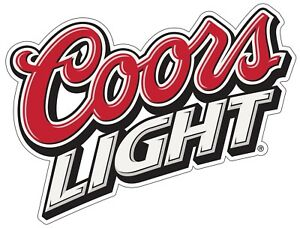 Coors Light Color Die Cut Vinyl Decal Sticker - You Choose Size 2