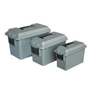 Ammo Crate Utility Box 3 Pcs Lockable Storage Boxes Tight Latch Rubber Gasket