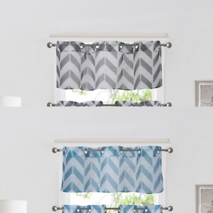 1PC CHEVRON STRAIGHT VALANCE TOPPER VOILE SHEER WINDOW CURTAIN 55