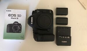 Canon 5D Mark III BODY w 2 LP-E6 batteries charger manual (see description)