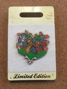 UK Disney Store SQUIRRELS WART & RED HEAD VALENTINE LE 150 Sword & the Stone Pin