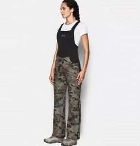 Womens Under Armour Stealth camo hunting bib SIZE Small 1282692-944