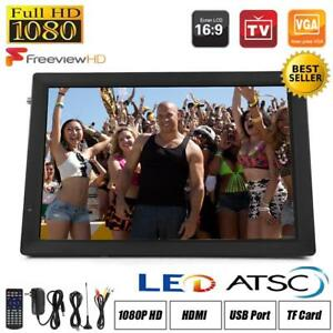 Freeview 1080P HDMI HD 14'' Portable TV Digital Television Player PVRUSB DCAC