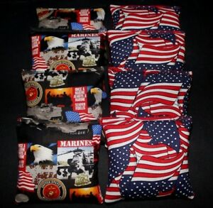 USMC USA Marines Military Patriotic Flag 8 ACA regulation custom Cornhole bags