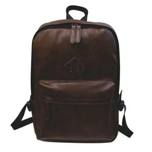 Men Neutral Leather Backpack