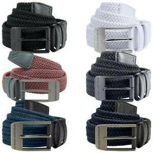 Under Armour Mens Braided 2.0 Golf Belt - New UA Elasticated Woven Stretch Fit