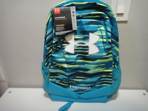 Under Armour Boy's Scrimmage Strom BackPack Heat Gear Water Resistant Color Blue