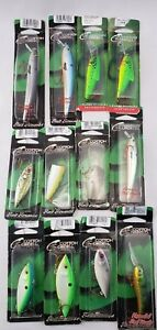Lot of 12 New Cotton Cordell Lures Shad Minnow Bass Crankbait Rattle Popper Jerk