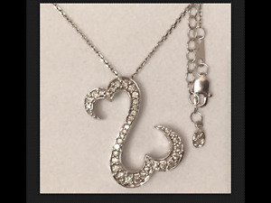 Jane Seymour Open Heart 12CT 14K White Gold Diamond Necklace MRP $1499 ~ Kay