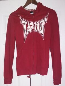 SUPER RARE TAPOUT Hoodie Sweatshirt Full zip sweatpant L red Kardashian  woman?