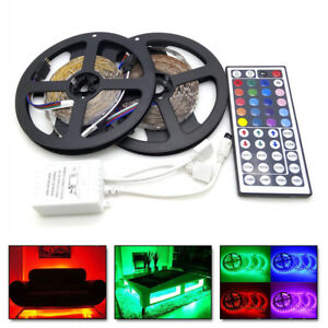 10M 32FT RGB 5050 SMD LED Strip Light 300LEDS 12V + 44 key IR Remote Controller