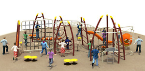 30x25x12 Commercial Playground Equipment Theme Playset 100% Financing Available