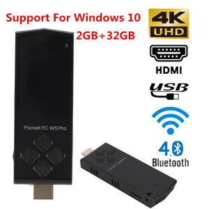 W5 PRO Mini PC WiFi Atom Z8350 1.92GHz TV Stick W Cooling Fan for Windows 10