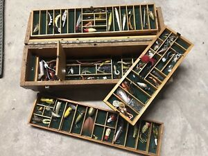 Loaded Vintage Tackle Box and Fishing Lure Vintage Gear included