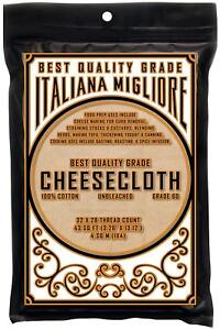 Best Quality Cheesecloth 43 Sq Ft *Chef Premium Food Grade 60* Fine Mesh