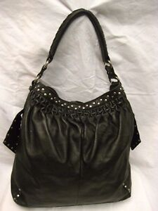 LUCKY BRAND LUSH LEATHER SHOULDER BAG PURSE *GROMMETS*