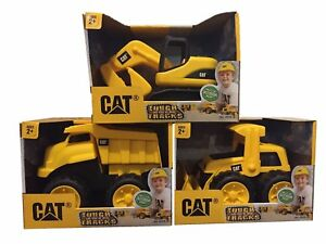 CAT Tough Tracks Toy Construction Set Excavator Front-end Loader Dump Truck