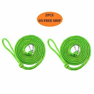2PCS 7FT14FT Lengths Heavy Duty Braided Premium PWC Dock Lines Ropes for Boat $18.99