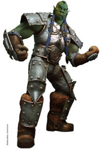 World of Warcraft Orc thrall Life-Size Statue Figure Oxmox Muckle
