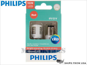 NEW! PHILIPS 1157R ULTINON LED RED BULBS 1157RULRX2   PACK OF 2