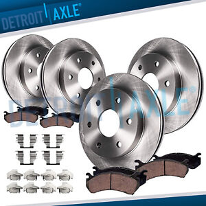 305mm Front 325mm Rear Brake Rotors Ceramic Pads Chevy Trailblazer GMC Envoy $130.81