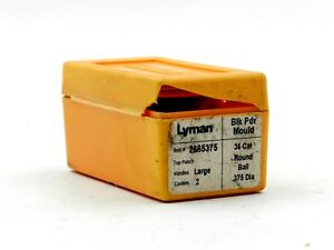 Lyman #266575 - 36 Cal Round Ball .375 Dia - Blk Pdr Mould - 2 Cavities (#3805)