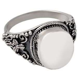 Antique Round Ash Holder Cremation Urn Ring Jewelry Size 9 Sterling Silver $54.95