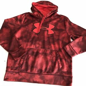 Under Armour Red Camo Storm Dri Fit Loose Fit Hoodie Men's Large