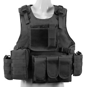 Nylon Airsoft Tactical Vest Combat Paintball CS Assault Army Military Waistcoat
