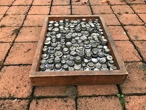 Collection 1920's Antique impression die molds Czech glass button steel stamps