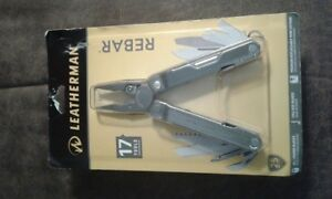 NEW Leatherman REBAR Stainless Steel 17-in-1 Multi-Tool - Black Leather Pouch