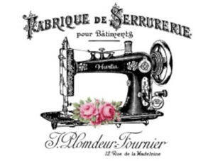 Vintage Image French Sewing Machine Furniture Transfers Decoupage Decal MIS661 $12.99