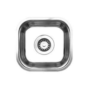 Whitehaus Noahs Undermount Brushed Stainless Steel 13 in. Single Bowl Prep Sink